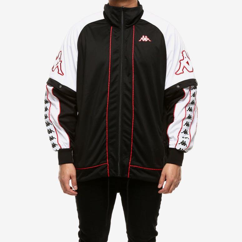 Kappa 222 Banda Hunt Jacket Black White Red – Culture Kings 0c04b7cdd