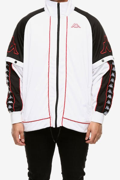 Kappa 222 Banda Hunt Jacket White/Black/Red