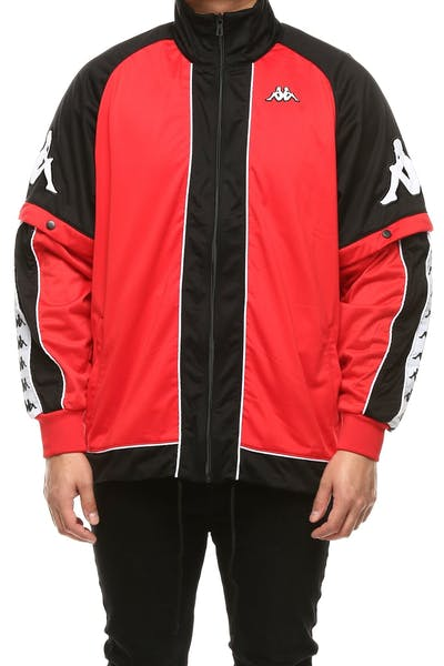 Kappa 222 Banda Hunt Jacket Red/Black/White