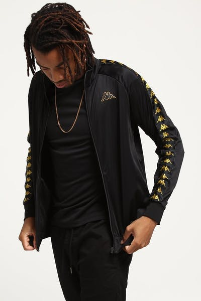 Kappa 222 Banda Anniston Jacket Black/Gold