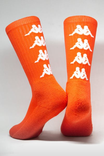 Kappa Authentic Amal 1PK Socks Orange/White