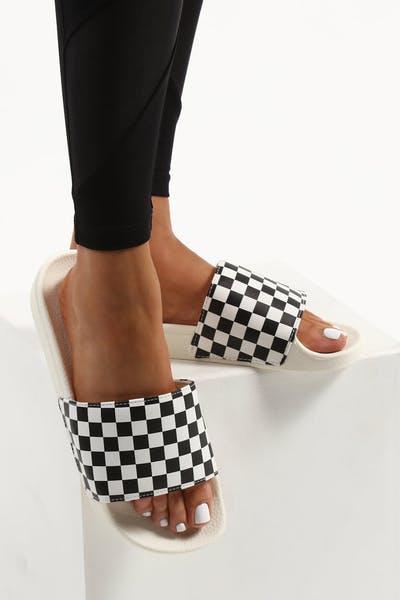 c11b4c2768 Vans Women s Slide-On Checkerboard White Black