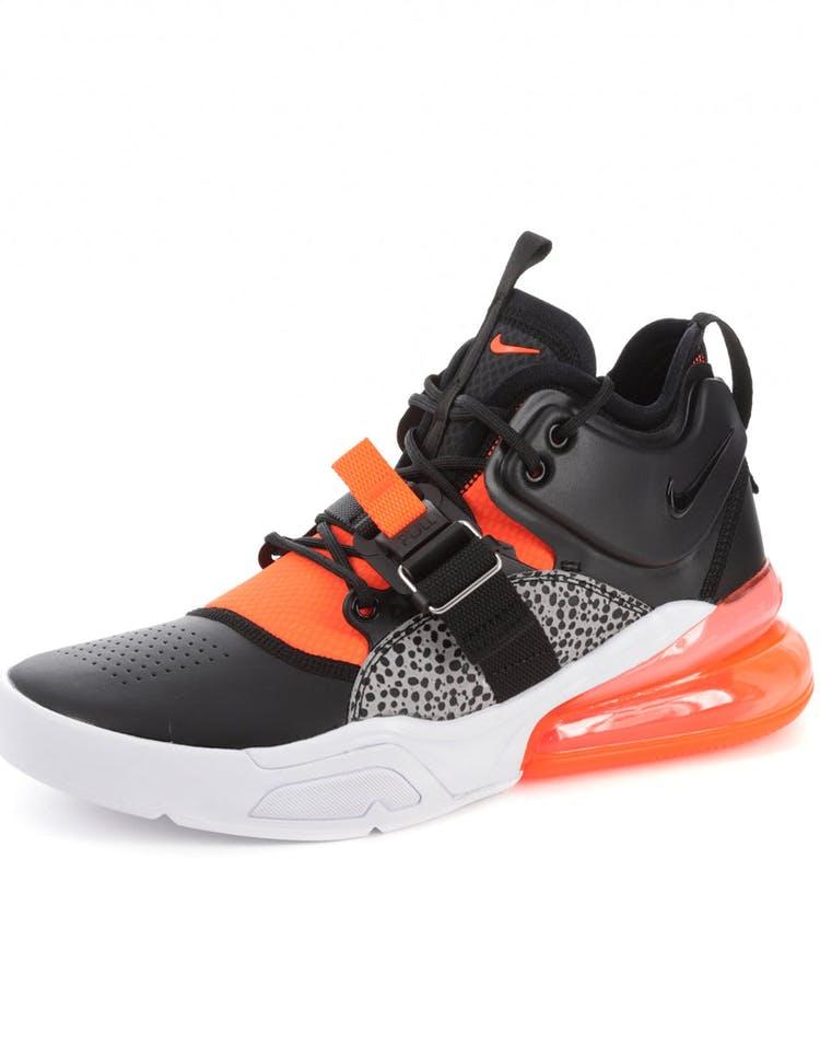 buy online 3fba5 aa64a Nike Air Force 270 Black/Orange/Grey