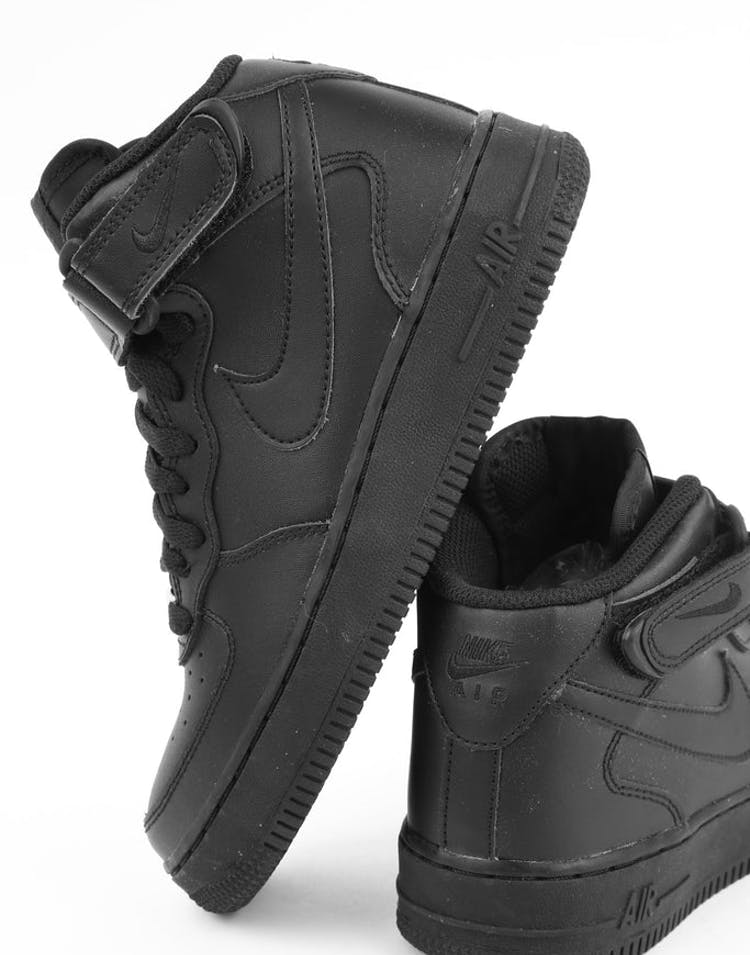innovative design cf566 2a099 Nike Boys Air Force 1 Mid (GS) Bball Black Black – Culture Kings