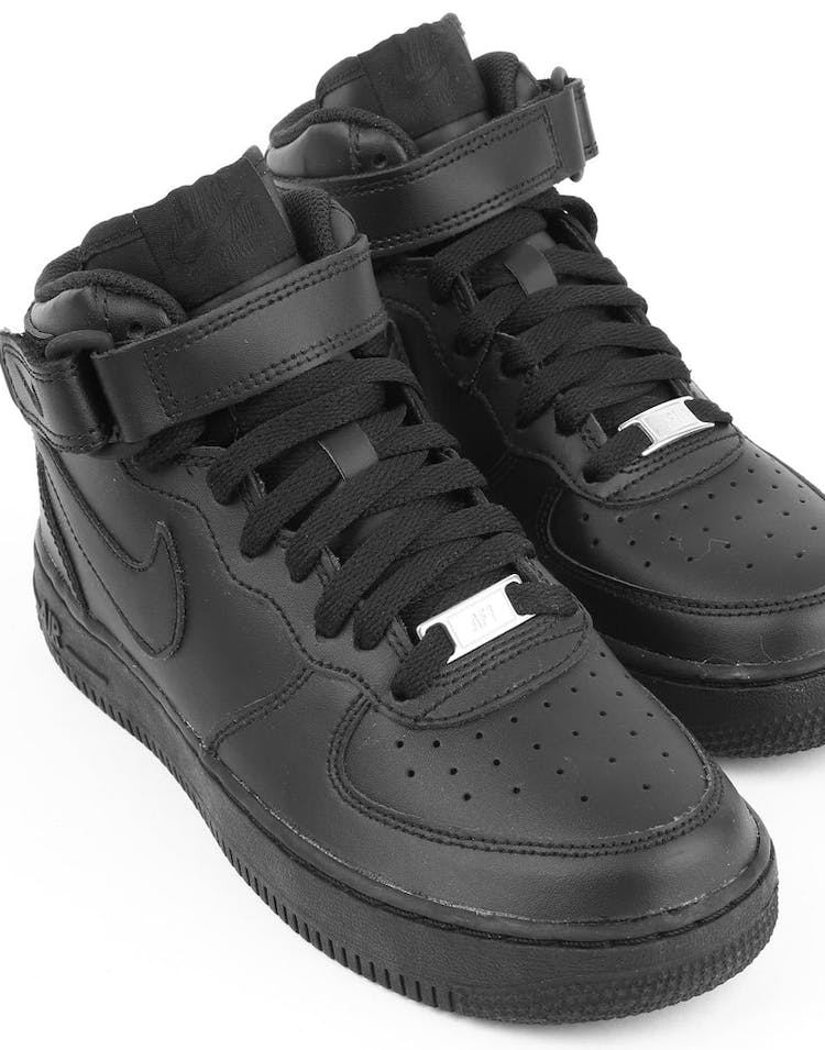 finest selection 6f78c 57f6a Nike Boys Air Force 1 Mid (GS) Bball Black/Black