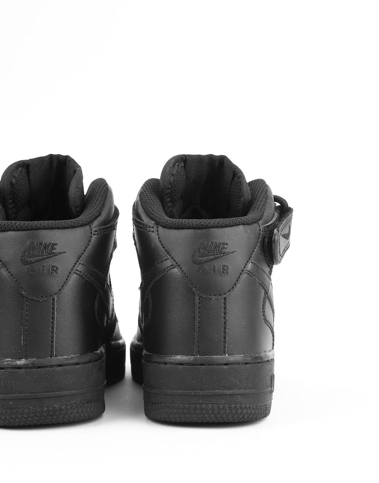 Nike Boys Air Force 1 Mid (GS) Bball Black/Black