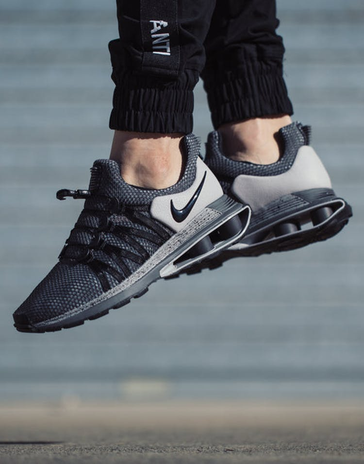 half off f3c34 f0ca5 Nike Shox Gravity Grey Black – Culture Kings