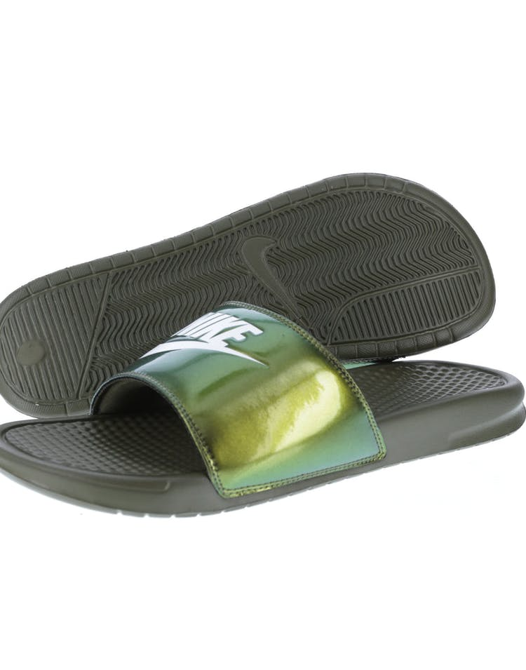 1bcfa2ce6c Nike Benassi Just Do It Print Slide Olive/White | 631261 200 ...
