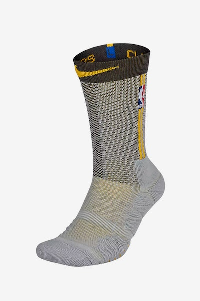Nike Cleveland Cavaliers Elite Quick Crew Sock Silver/Gold