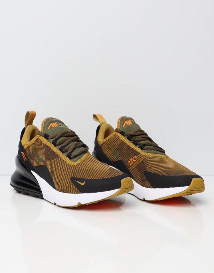 finest selection 3e11f 9b20e Nike Air Max 270 Jacquard Older Kids' Shoe Mustard/Black/White