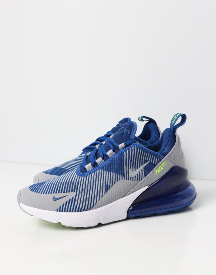 cheap for discount 30e49 0f6c2 Nike Air Max 270 Jacquard Older Kids' Shoe Blue/Grey/White