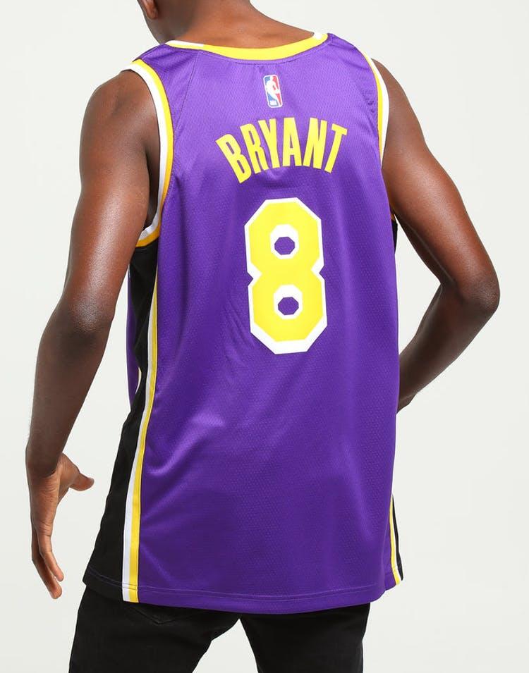 6f27f7694 Nike Kobe Bryant Statement Swingman Los Angeles Lakers Purple Yellow –  Culture Kings