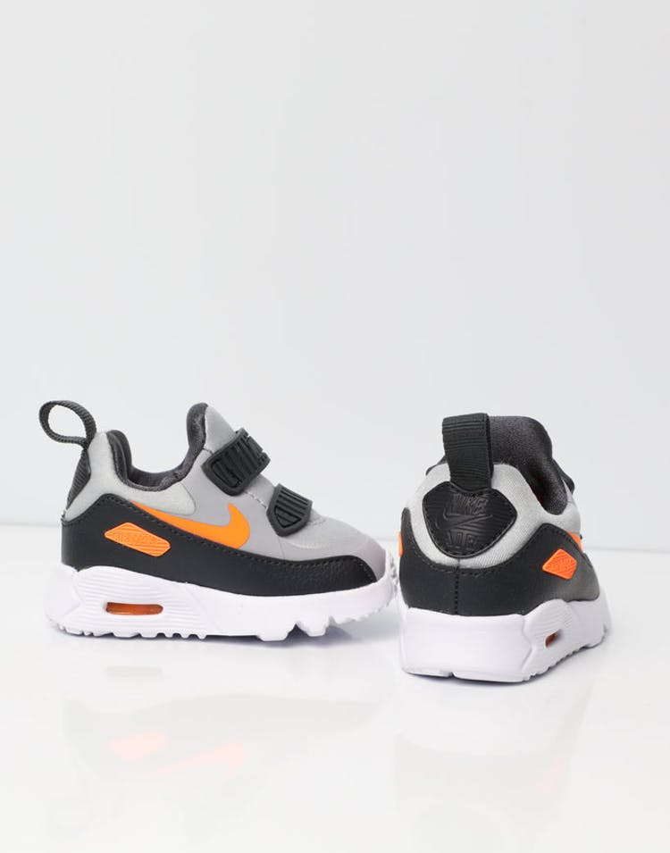 buy popular d769b 462b3 Nike Air Max Tiny 90 Toddler Shoe Grey Orange White   881924 009 – Culture  Kings