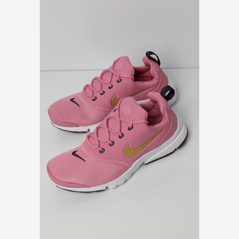 8d814fe2bd3b Nike Presto Fly Older Kids  Shoe Pink Gold White