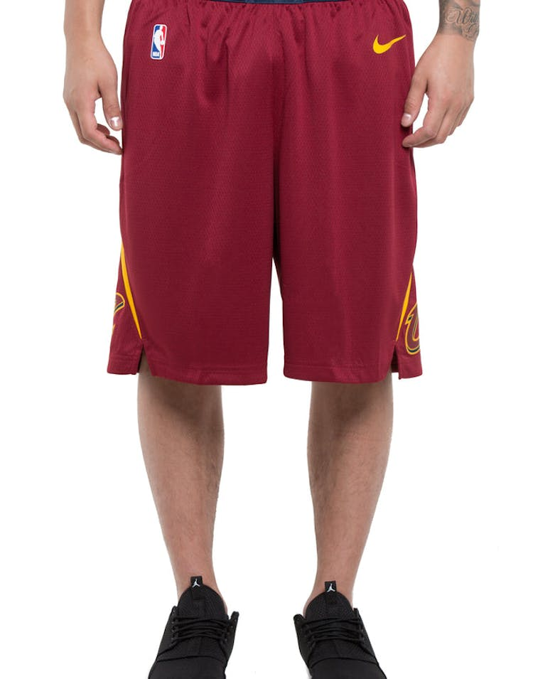 63a99c4f6c0 Cleveland Cavaliers Nike Icon Edition Swingman Shorts Red/Gold – Culture  Kings