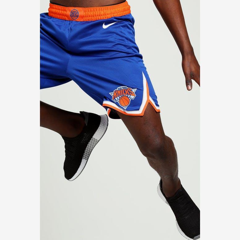 a90a60b4f New York Knicks Nike Icon Edition Swingman Shorts Blue Orange White –  Culture Kings