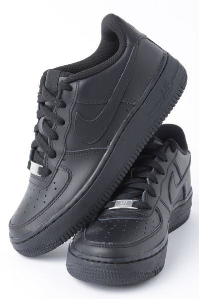 outlet store ecf9f 3c1dc Nike Boys Air Force 1 (GS) Black Black Black