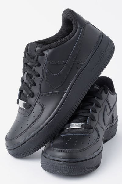 81832609be4ae2 Nike Boys Air Force 1 (GS) Black Black Black