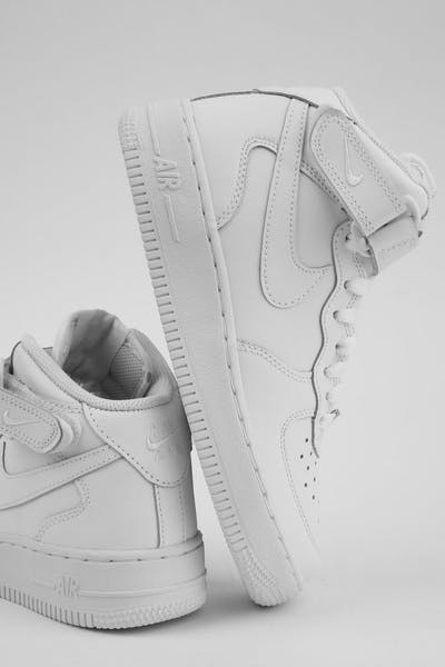 797469fd9f72f1 Nike Boys Air Force 1 Mid (GS) Bball White White
