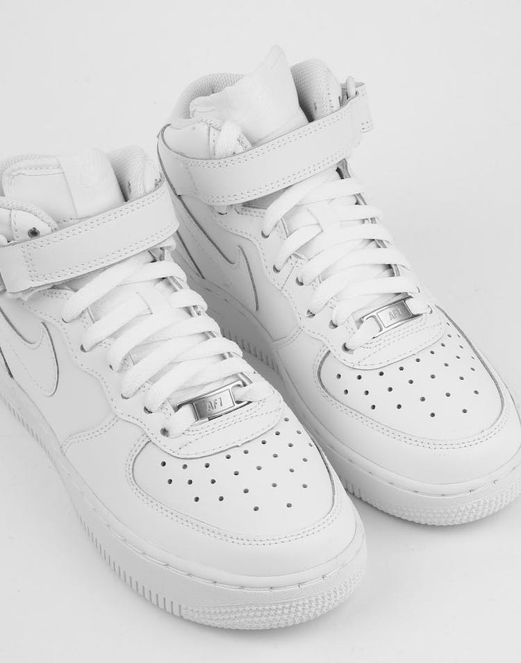 22f36078a04ca Nike Boys Air Force 1 Mid (GS) Bball White/White