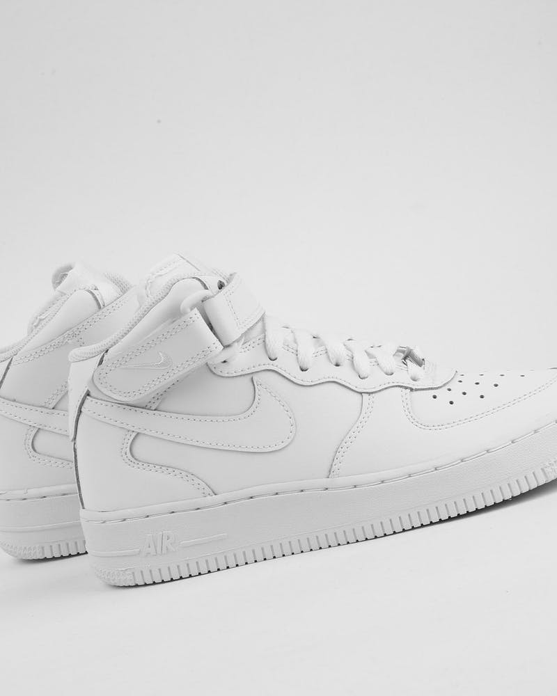 Nike Boys Air Force 1 Mid (GS) Bball White/White