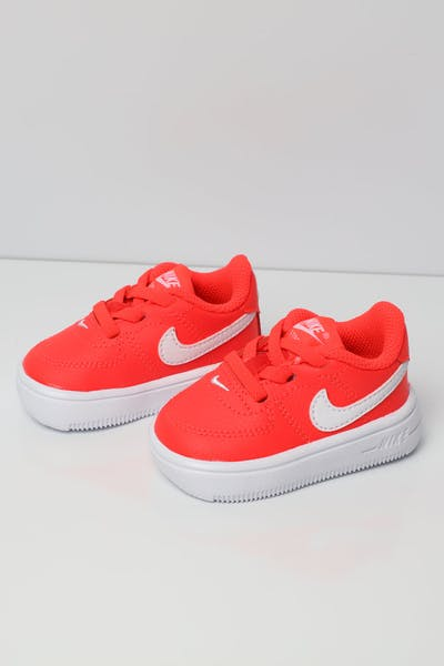 hot sale online c0e8e b6379 Nike Air Force 1  18 Toddler Shoe Orange White