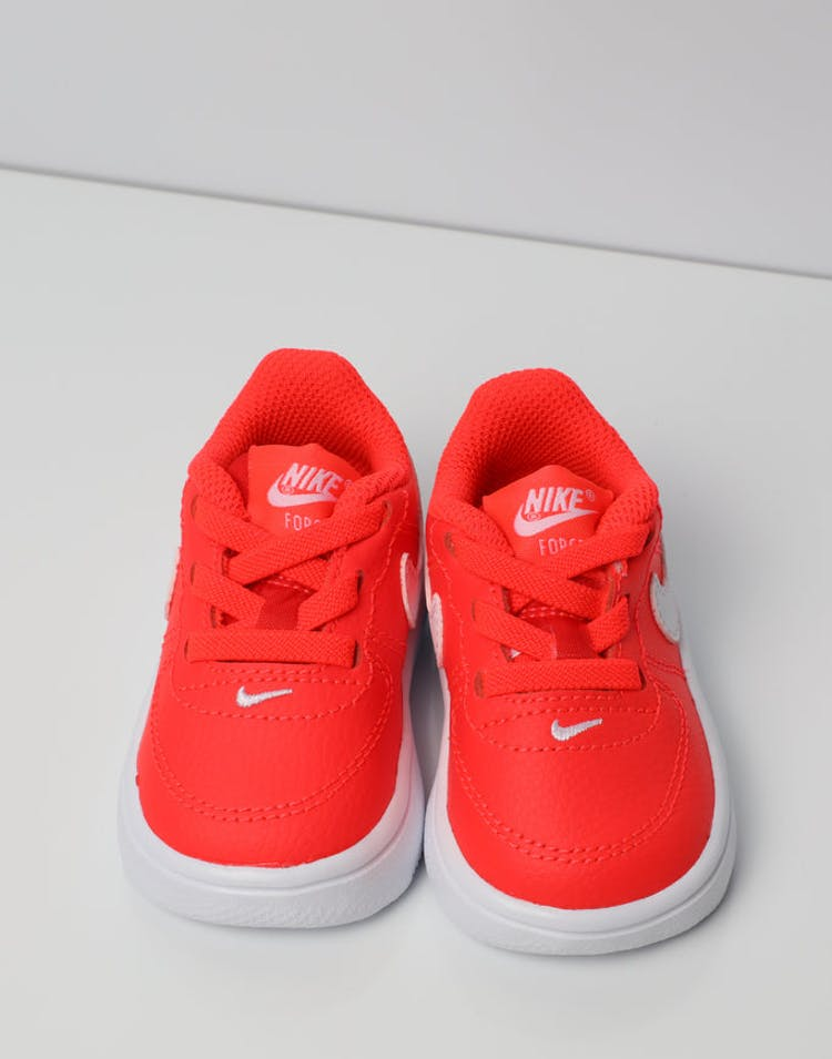 hot sale online a7499 59ecf Nike Air Force 1  18 Toddler Shoe Orange White