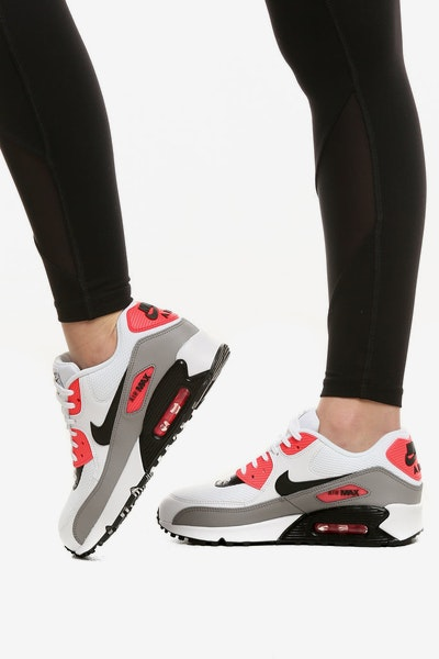 Nike Women's Air Max 90 White/Red/Black