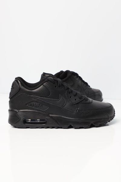 427babdff0cfad Nike Air Max 90 Leather Older Kids  Shoe Black Black