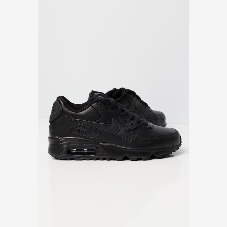 Nike Air Max 90 Leather Older Kids  Shoe Black Black  2ab3271850