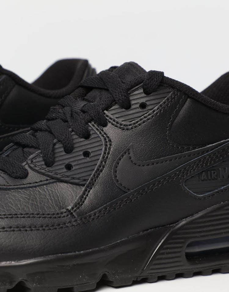 uk availability b294b fb52a Nike Air Max 90 Leather Older Kids  Shoe Black Black