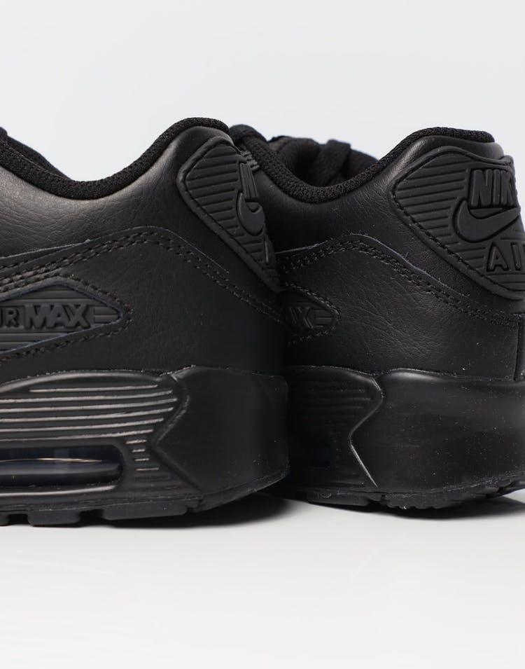 sale retailer e20e9 6a4d2 Nike Air Max 90 Leather Older Kids' Shoe Black/Black