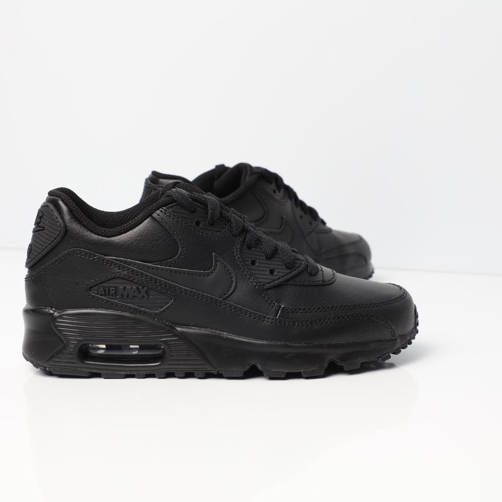Nike Air Max 90 Leather Older Kids' Shoe BlackBlack