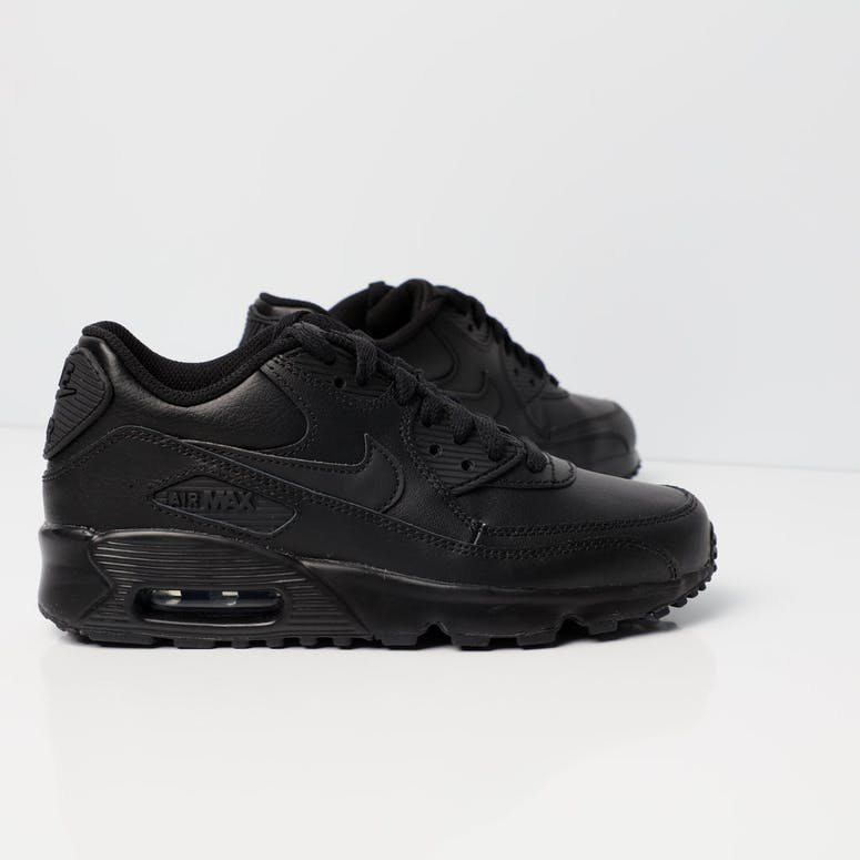 sports shoes c644b 10524 Nike Air Max 90 Leather Older Kids Shoe BlackBlack  833412 001 – Culture  Kings