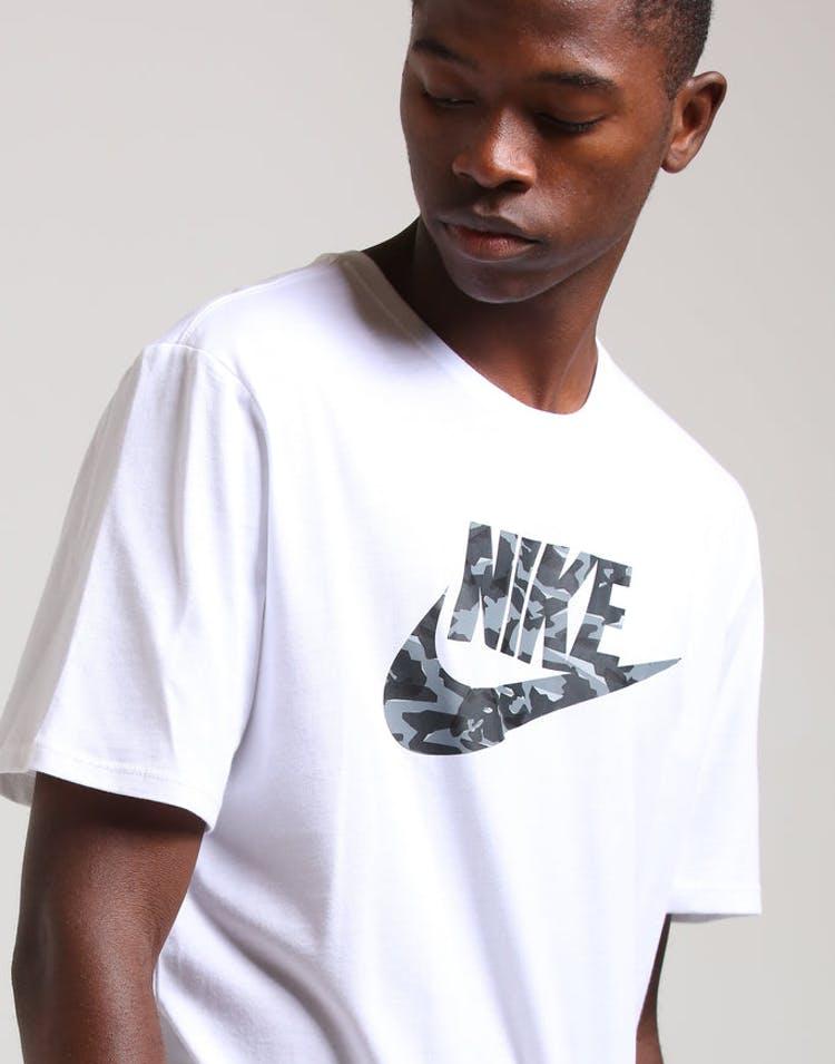 sale retailer 0a7c7 fe67e Nike NSW Camo Pack 2 Tee White Light Grey – Culture Kings