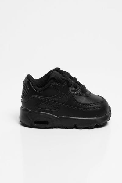Nike Air Max 90 Leather Toddler Shoe Black/Black