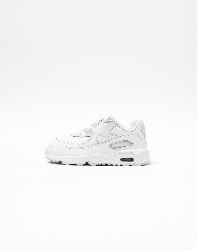 Nike Air Max 90 Leather Toddler Shoe White/White