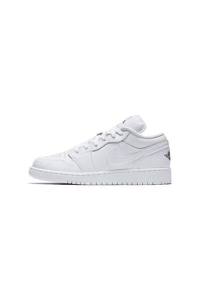 f5f53d9fdc2c72 Jordan Boy s Air Jordan 1 Low (GS) White Black