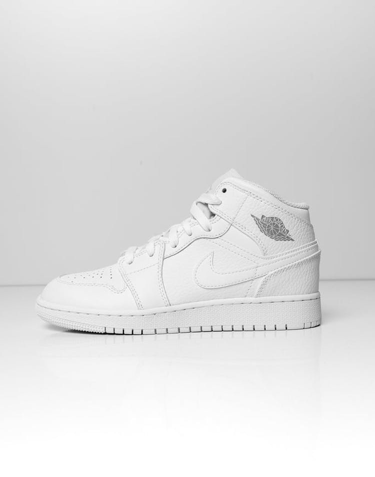 0ce0850865e Jordan Kids Air Jordan 1 Mid (GS) White White – Culture Kings