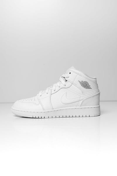 Jordan Kids Air Jordan 1 Mid (GS) White/White