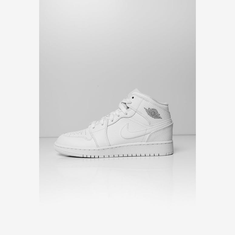 d98f790f112 Jordan Kids Air Jordan 1 Mid (GS) White White