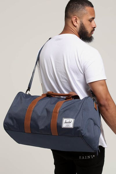 HERSCHEL BAG CO NOVEL DUFFLE Navy/Tan Faux