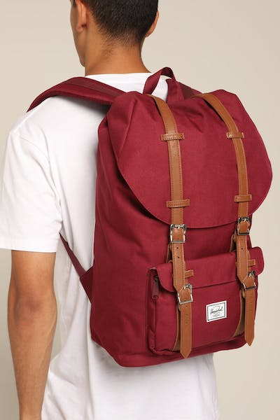 Herschel Bag Co Little America Backpack Wine/Tan Synth