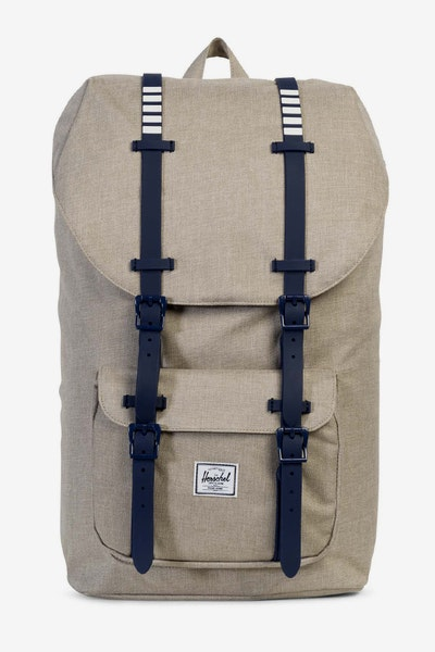 Herschel Supply Co Little America Crosshatch Light Khaki/Peach