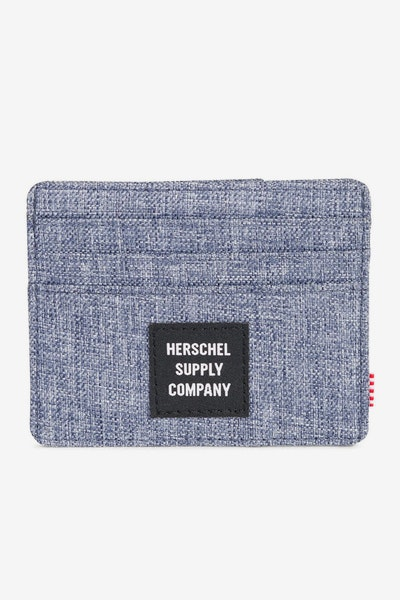 Herschel Supply Co Felix RFID Crosshatch Dark Chambray