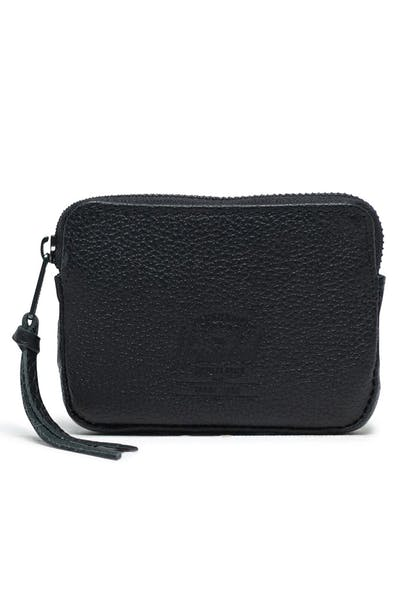 HERSCHEL BAG CO OXFORD POUCH LEATHER RFID Black Pebble
