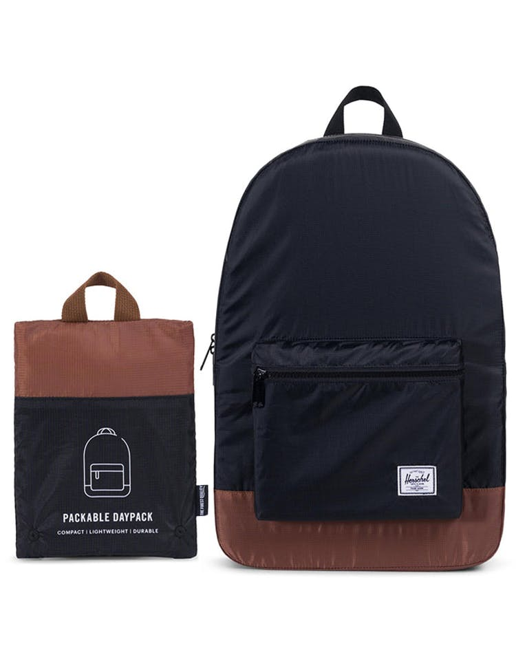 95c74562e6c Herschel Supply Co Packable Daypack Black Tan Faux – Culture Kings