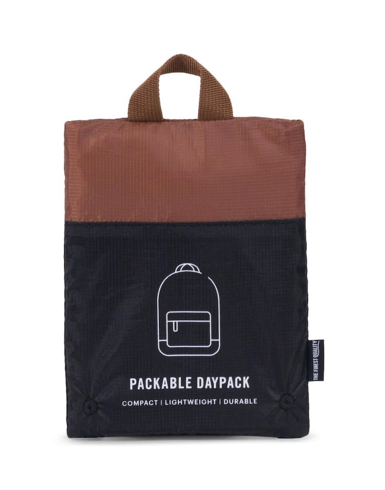Herschel Supply Co Packable Daypack Black/Tan Faux