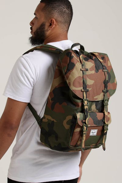 HERSCHEL BAG CO Little America Backpack Woodland Camo