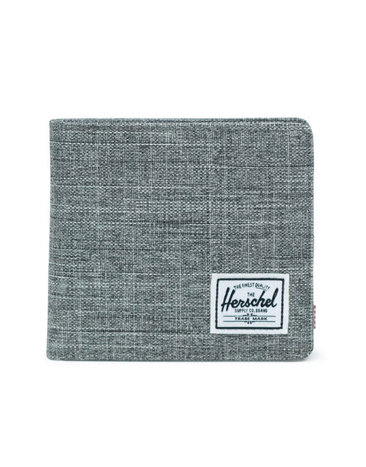 HERSCHEL BAG CO HANS COIN XL CROSSHATCH RFID Charcoal
